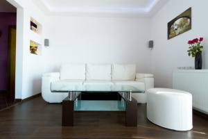 Small apartment can be made bigger with white decor.