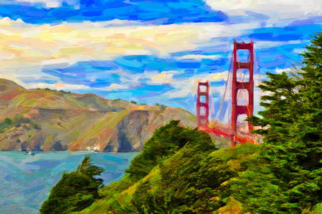 SF Golden Gate painting
