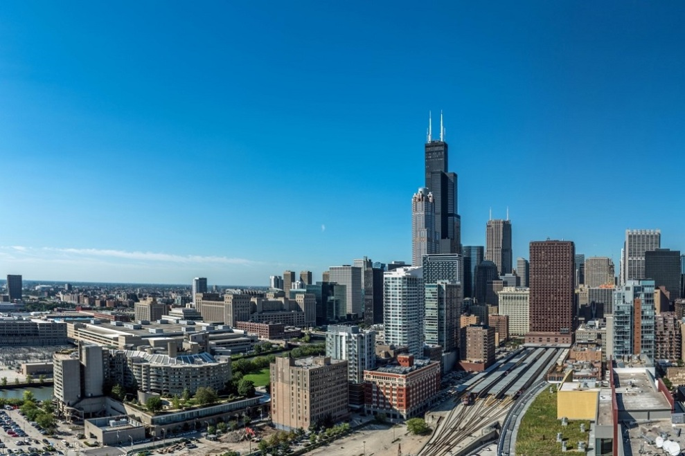 Chicago's South Loop via 1000 South Clark Apartments