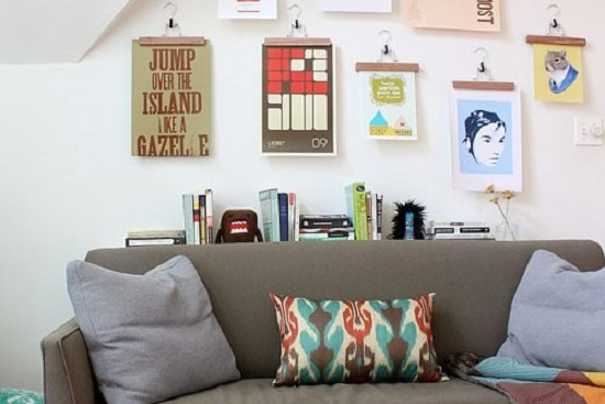 Decorate with posters