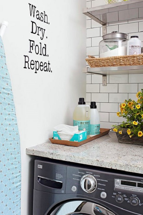 Laundry room smart wall decal