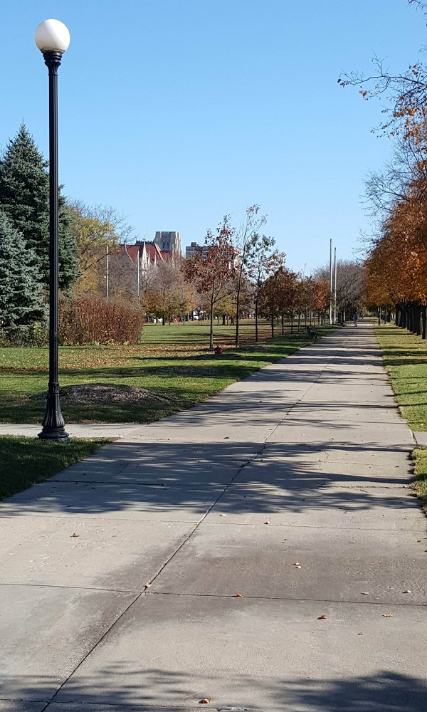 The Midway Plaisance in Hyde Park Chicago
