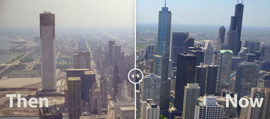 Chicago then vs now
