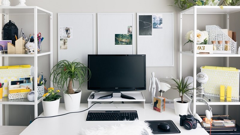 Greenery and plants for your home office