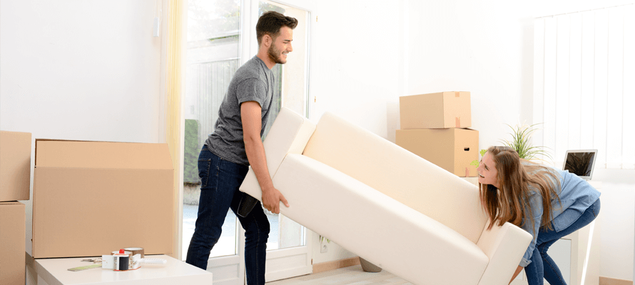 Application Process Couple Moving Couch