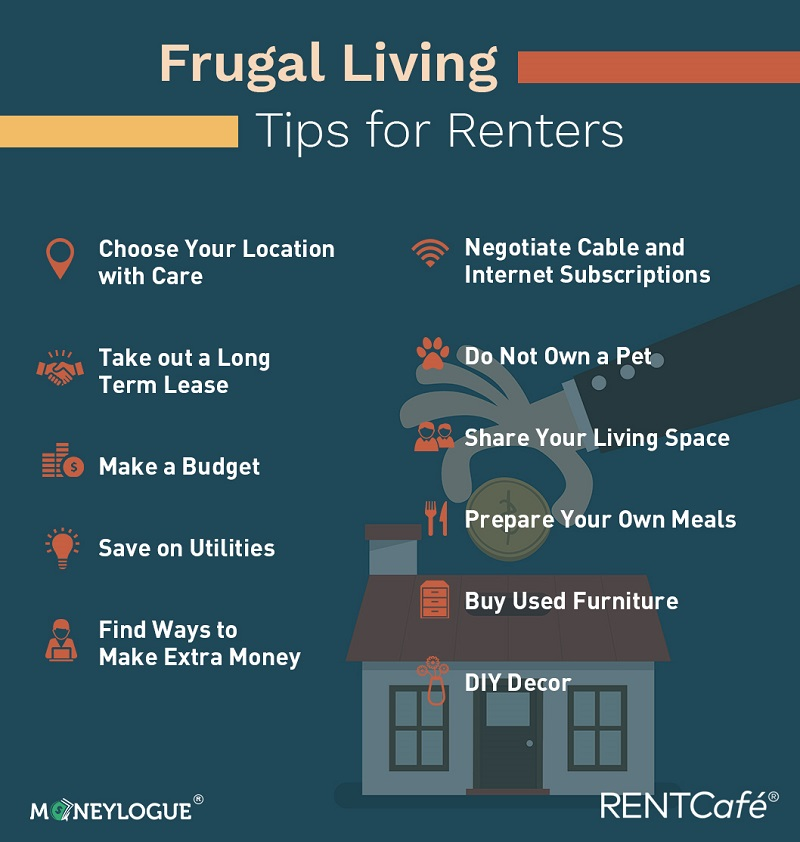 Infographic Frugal Living Tips for Renters