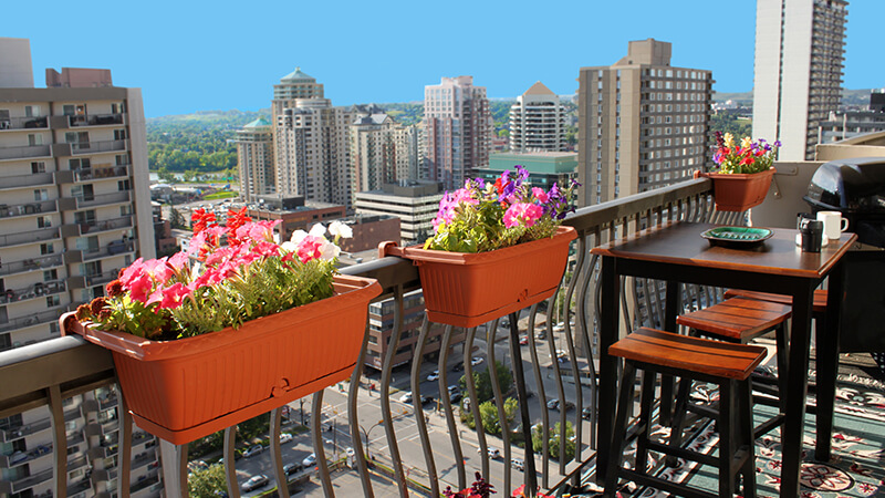 Balconies and outdoor spaces in apartment communities