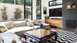 Living Room with Sofas & Coffee Table & TV