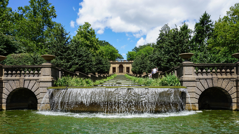 A man-made cascade in a park in Columbia Heights, one of the best neighborhoods in D.C.