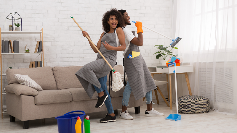 cleaning apartment preparation