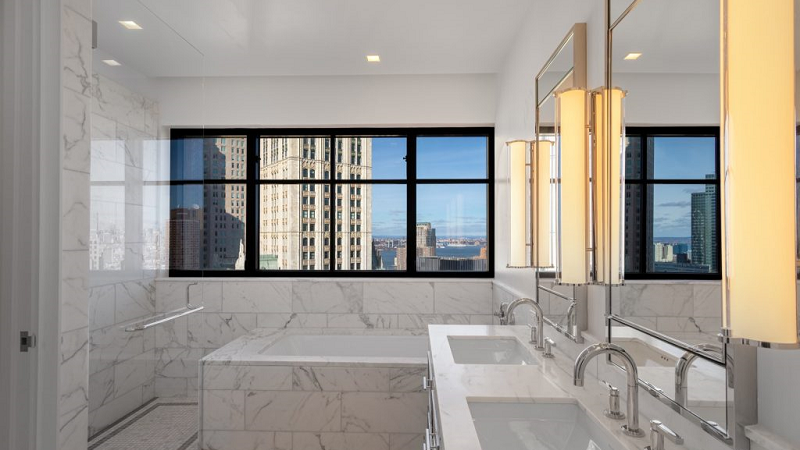 luxury rental nyc bathroom design