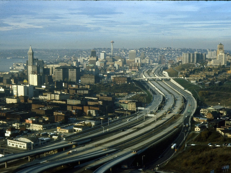 Downtown and I-5 1966