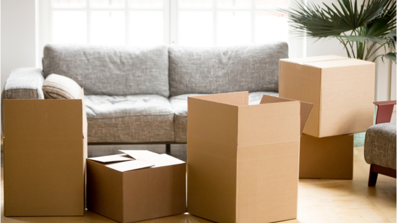 moving boxes from grocery stores